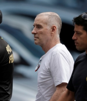 Former billionaire Eike Batista arrives at the Federal Police headquarters to give a testimony in Rio de Janeiro