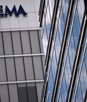 The headquarters of the European Medicines Agency (EMA), is seen in London