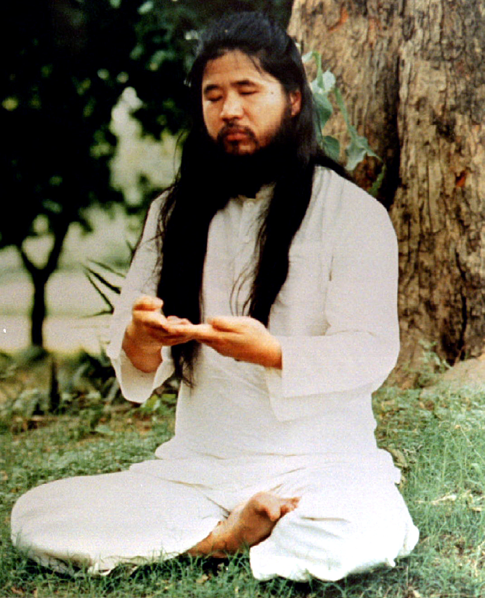 Shoko Asahara leader of the secretive cult Aum Shinri Kyo is seen in undated file photo