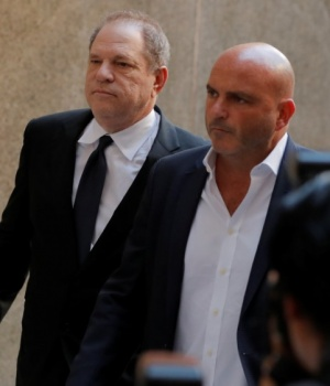 Film producer Harvey Weinstein arrives at Manhattan Criminal Court