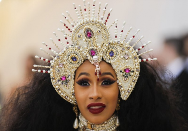 Rapper Cardi B arrives at the Metropolitan Museum of Art Costume Institute Gala to celebrate the opening of