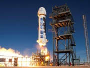 Blue Origin's New Shepard lifts off during a test in Van Horn