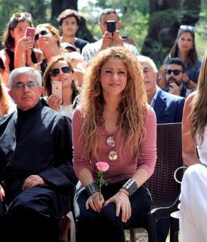 Colombian singer Shakira visits Tannourine Cedars Reserve, in Tannourine