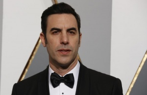 Presenter Sacha Baron Cohen arrives at the 88th Academy Awards in Hollywood