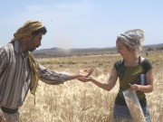 Arranz-Otaegui, and Shakaiteer collecting wheat in this handout image