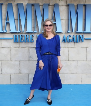 Meryl Streep attends the world premiere of Mamma Mia! Here We Go Again at the Apollo in Hammersmith, London