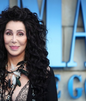Cher attends the world premiere of Mamma Mia! Here We Go Again at the Apollo in Hammersmith, London