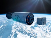 CGI of launch of orbital satellite. Image courtesy of Orbex.
