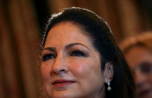 Cuban-American singer Gloria Estefan waits to be awarded with Spain's Gold Medal of Merit for the Arts from Spain's Culture Minister Jose Guirao Cabrera in Madrid