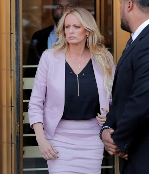 Stormy Daniels departs federal court in New York City