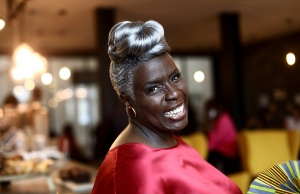Karen Gibson, the founder of the Kingdom Choir poses for a photograph at Fresh Ground Church in Battersea, London
