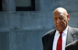Actor and comedian Bill Cosby exits Montgomery County Courthouse after a jury convicted him in a sexual assault retrial in Norristown