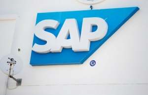 SAP logo is seen at SAP company offices in Woodmead, Johannesburg, South Africa