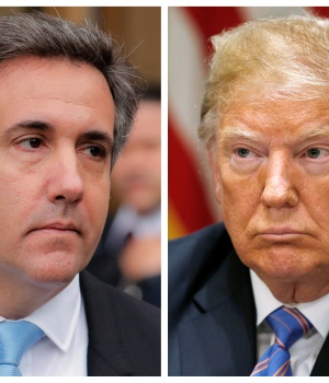 Cohen, onetime personal attorney to Trump and U.S. President Trump are seen in this combination of file photos