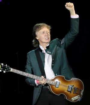 """Paul McCartney performs during the """"One on One"""" tour concert in Porto Alegre"""