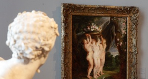 "Ruben's painting ""The Three Graces"" is pictured at the picture gallery at the Academy of Fine Arts in Vienna"