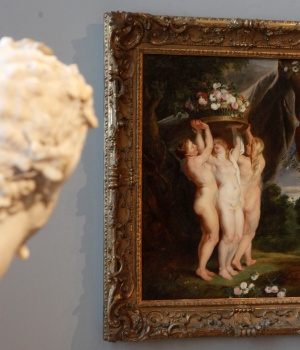 """Ruben's painting """"The Three Graces"""" is pictured at the picture gallery at the Academy of Fine Arts in Vienna"""