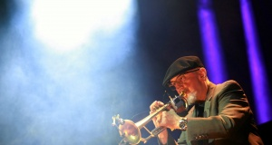 Polish jazz trumpeter Tomasz Stanko performs during the concert commemorating the 70th anniversary of Warsaw Uprising in Warsaw