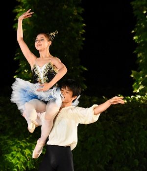 Iseki and Goto of Germany perform during the gala event of the 28th International Ballet Competition in Varna