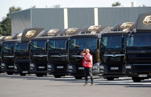 Vehicles of United Parcel Service are seen at the new package sorting and delivery UPS hub in Corbeil-Essonnes and Evry