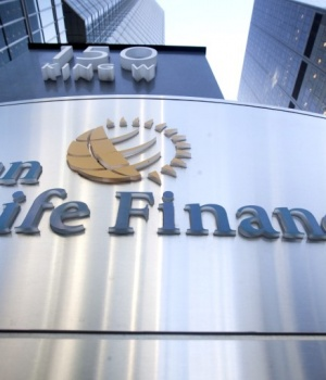 The logo of Sun Life Financial is seen in Toronto