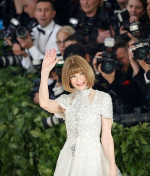 Vogue Editor-in-Chief Anna Wintour arrives at the Met Gala in the Manhattan borough of New York