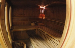 A view of a sauna in Gdynia