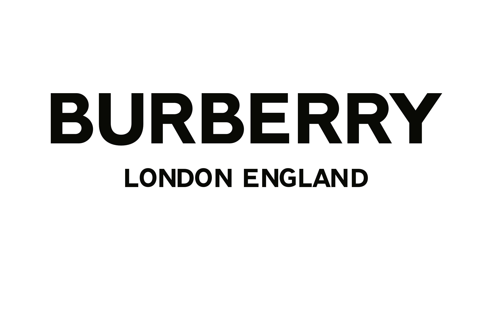 The new Burberry logo can be seen in this handout image from the fashion house in London