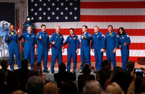NASA crew assignments announcement for Boeing CST-100 Starliner and SpaceX Crew Dragon in Houston