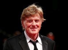 Actor Redford poses during a red carpet to receive a Golden Lion award for lifetime achievement at the 74th Venice Film Festival in Venice