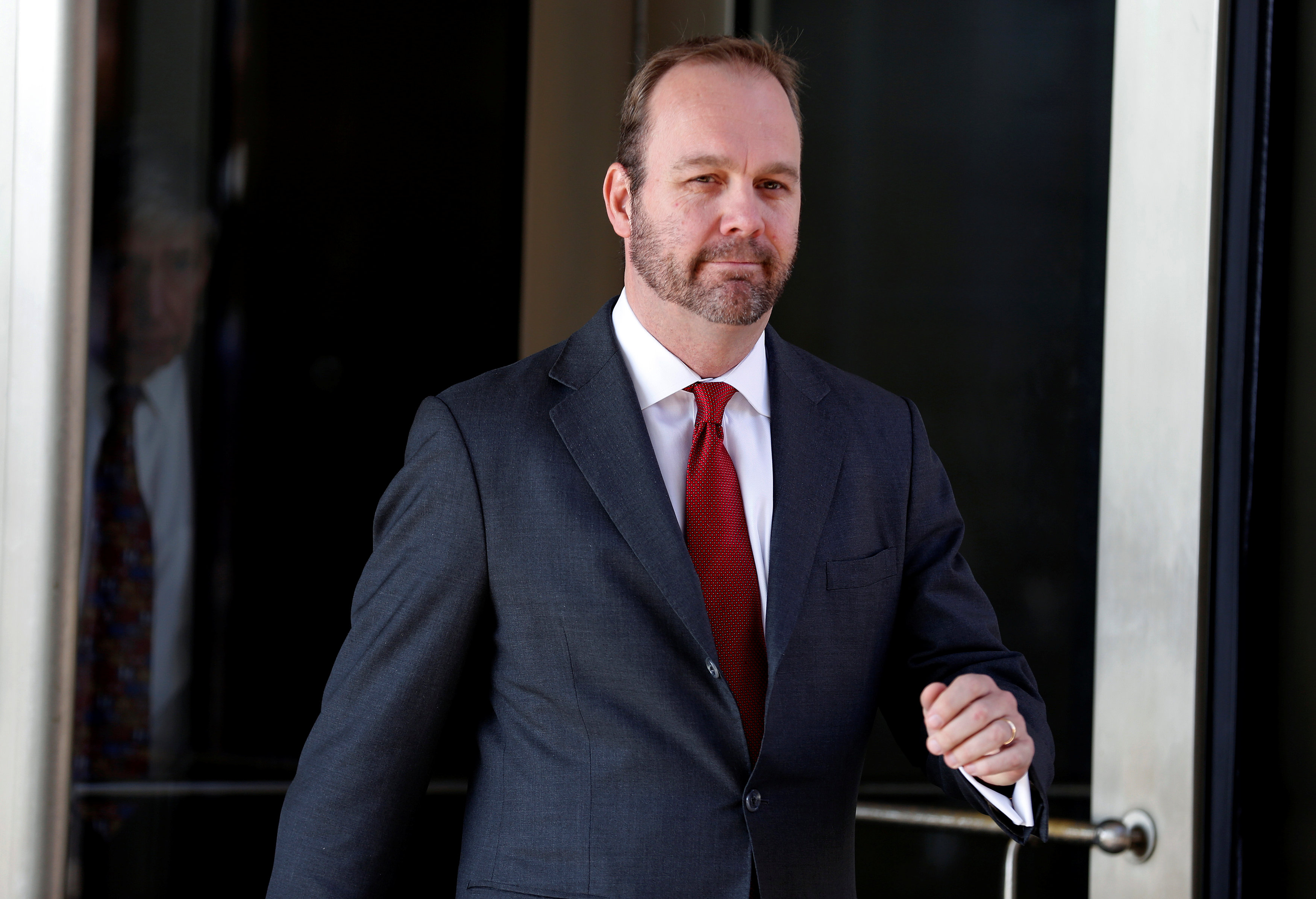 Former Trump campaign aide Rick Gates departs U.S. District Court in Washington