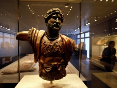 A statue of the Emperor Hadrian is displayed at the Israel Museum in Jerusalem