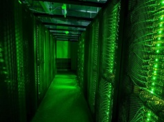 Servers for data storage are seen at Advania's Thor Data Center in Hafnarfjordur, Iceland