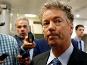 Senator Paul (R-KY) speaks to reporters in Washington