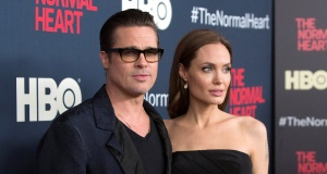 Brad Pitt and Angelina Jolie attend the premiere of The Normal Heart in New York