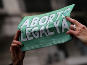 Abortion rights activists gather as lawmakers are expected to vote on a bill legalizing abortion, in Buenos Aires