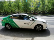 A Taxify car drives in Tallinn