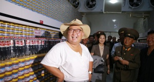 North Korean leader Kim Jong Un visits a factory in this undated photo released by North Korea's Korean Central News Agency