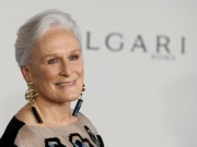 Glenn Close poses on the red carpet during the commemoration of the Elton John AIDS Foundation 25th year fall gala at the Cathedral of St. John the Divine in New York City