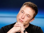 Tesla CEO Musk at a press conference in Cape Canaveral
