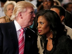 Republican presidential nominee Trump and Manigault attend a church service in Detroit