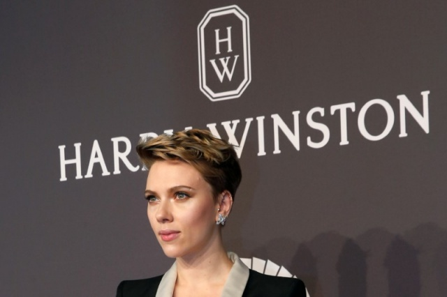 Scarlett Johansson arrives for amfAR's Annual Fashion Week New York Gala in New York