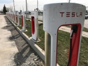 Tesla superchargers are installed at the Quinte Mall in Belleville