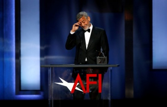 Actor Clooney accepts the 46th AFI Life Achievement Award in Los Angeles