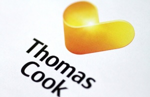 Illustration photo of a Thomas Cook logo