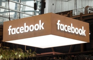 The logo of Facebook is pictured during the Viva Tech start-up and technology summit in Paris