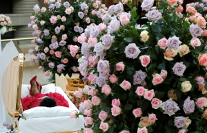 The body of the late singer Aretha Franklin lies in state at the Charles H. Wright Museum of African American History for two days of public viewing in Detroit