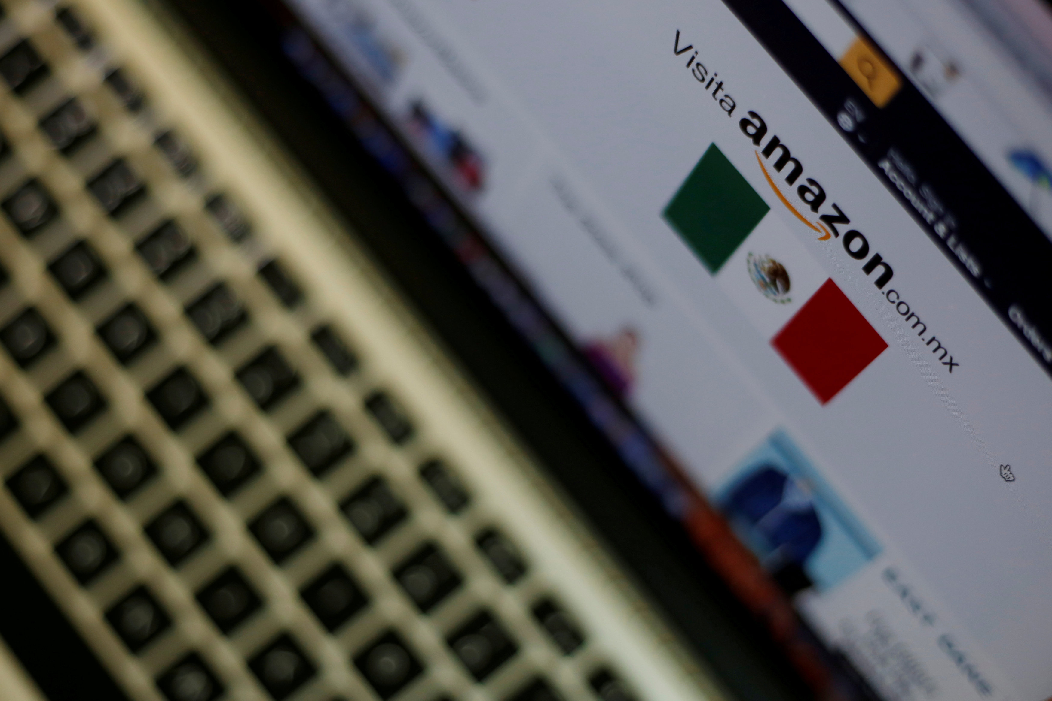 The logo of the web service Amazon is pictured in this illustration photo.