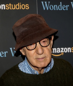 "Director Woody Allen arrives for a screening of the film ""Wonder Wheel"" in New York, U.S."