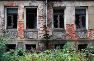 An abondoned house is pictured in Chemnitz